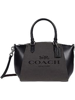 COACH Jacquard Elise Satchel,SV/Black