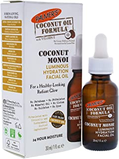 Palmer's Coconut Oil Formula, Coconut Monoi Luminous Hydration Facial Oil | For a Healthy-Looking Radiant Glow | 24 Hour Moisture | 1 fl. oz.