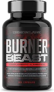 Burner Beast – Suplemento Quemagrasas de Ultra-alta Resistencia – Ingredientes Homologados por EFSA - 180 Cápsulas Vegetarianas