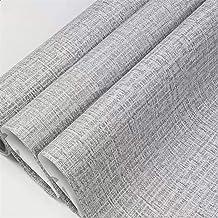 Yancorp — Papel de parede de tecido de pano de grama sintético autoadesivo de linho de papel de contato removível para coz...