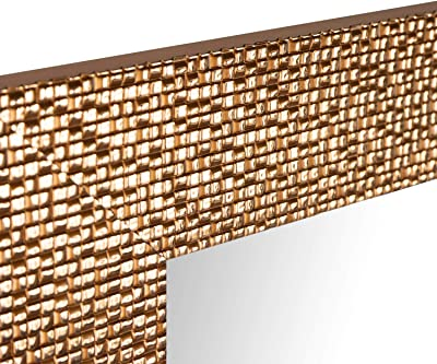 Amazon.com: DesignOvation - Espejo de madera tradicional con ...