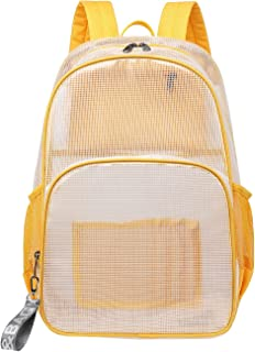 Mygreen Stadium Approved Backpack, Heavy Duty School Bag for 15.6 Laptop, Clear