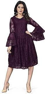 Comet Enterprise Women's Polyester Regular Fit A-Line Dress