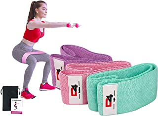 D4 Premium Quality Resistance Bands for Legs and Butt, Workout Exercise Hip Bands, Fitness Booty Loop Non-Slip Bands for S...