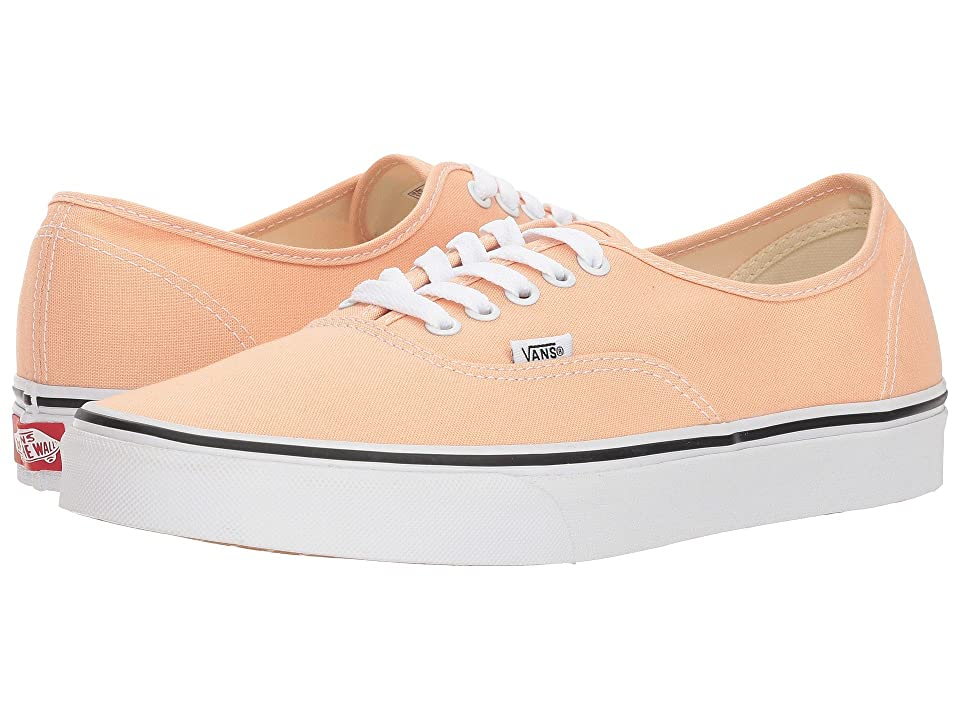 Vans Authentictm (Bleached Apricot/True White) Skate Shoes