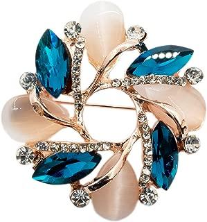 Donatio Bauhinia Rose Gold Farbe Kristall Brosche für Frau Mädchen Lady Hochzeit Party Zubehör