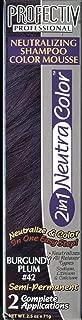 Profectiv 2in1 NeutraColor Neutralizing Shampoo Color Mousse #42 BURGUNDY PLUM 2.5 oz