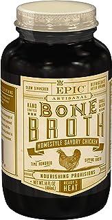 EPIC Homestyle Savory Chicken Bone Broth, Whole30, 14fl oz Jar