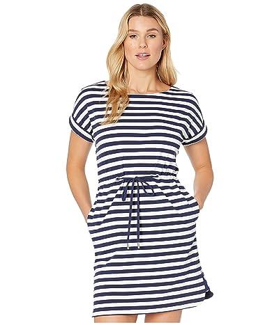 Tommy Bahama Amira Stripe Short Sleeve Dress (Island Navy) Women