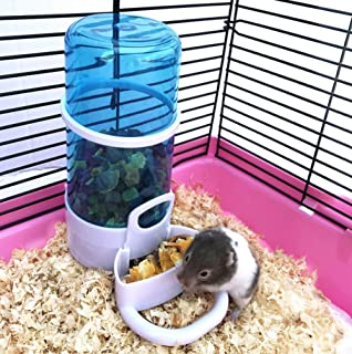 Cydnlive Automatic Pet Feeder, Hamster Hedgepig Rabbit Bird Small Animal Feeding Food Dispenser with Holder