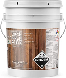 Down Stream Injectable Deck Stripper 4167 by DeckGeneral   Removes Stains, Finishes, Coatings, Sealers & Paint   Easy to Apply   Works on Multiple Wood Surfaces   Water Based Formula   5 Gallons