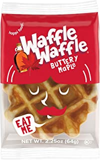 Waffle Waffle, Bulk Party Snack Belgian Waffle, Buttery Maple Liege Waffle, Great for Parties. 2.25 Oz, 36 Pack