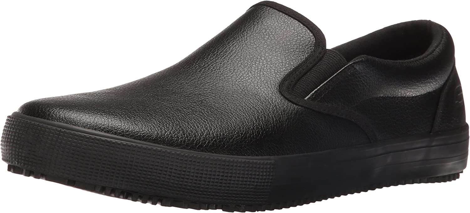 Skechers for Work Hommes's Alcade Industrial and Construction Slip Resistant chaussures