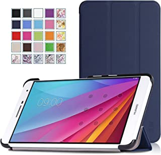 Huawei MediaPad T2 7.0 Pro/MediaPad M2 7.0ケース - ATiC Huawei MediaPad T2 7.0 Pro/MediaPad M2 7.0タブレット専用開閉式三つ折薄型スタンドケース。INDIGO