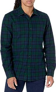 Goodthreads Mens Slim-Fit Long-Sleeve Brushed Flannel Shirt