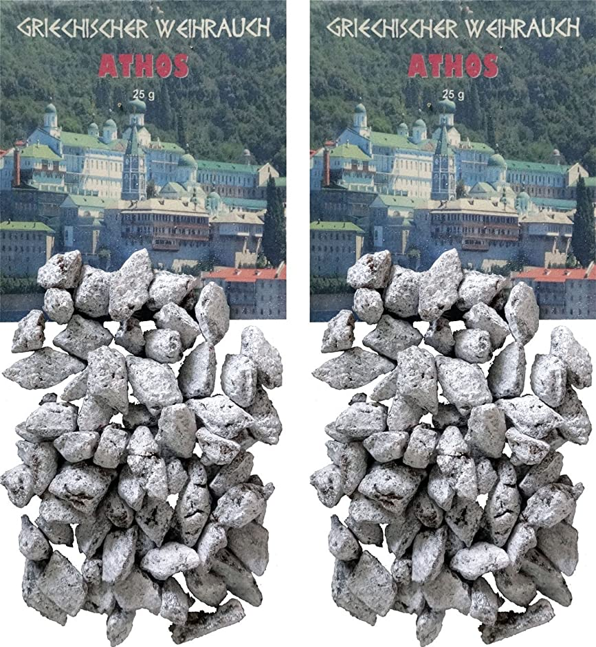 攻撃的刺繍ペストリーTrimontium GWR01-P2 インセンス フランキンセンス-アトス ギリシャの歌 2x25g チャコールまたはシーブ用
