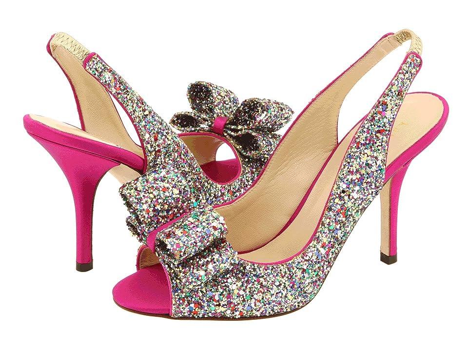 Kate Spade New York Charm Heel (Multi Sparkle Glitter) High Heels