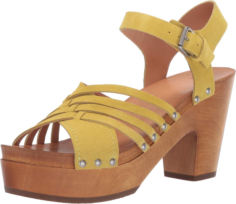 Frye Womens Greta Woven Clog Heeled Sandal