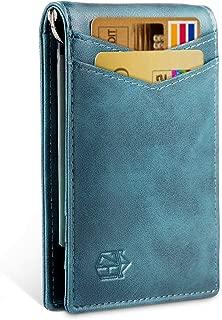 Minimalist Slim Bifold Front Pocket Wallet with Money Clip for men,Effective RFID..