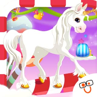 Bouncy Unicorn Adventure In Candy Land
