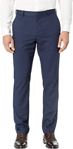 Slim Fit Solid Textured Dress Pants
