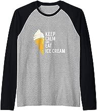 Keep Calm And Eat Ice Cream Sweet Flavor Tasty Raglan Baseball Tee