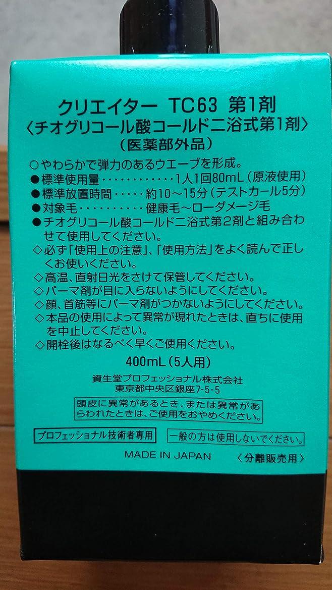知的イチゴ祝福する資生堂 クリエイター TC63(プロ用パーマ液?1剤、2剤各400ml)