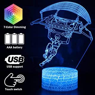 Gliding Fortress Skins New 3D LED Lamp 7 Colors Touch Switch Table Desk Light Lamp Acrylic Illusion Room Lighting Game Gifts (Crack Character Gliding)