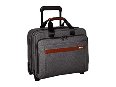 Briggs & Riley Kinzie Street Medium Expandable Rolling Brief (Grey) Carry on Luggage