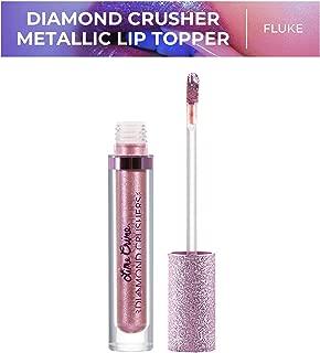 Lime Crime Diamond Crushers Iridescent Liquid Lip Topper, Fluke - Cool Mauve - Strawberry Scent - Enhances Mattes - For Face And Body - Wear Alone Or Over Lipstick - Vegan
