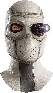 Men's Suicide Squad Deadshot Overhead Lighted Latex Mask