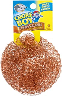 Chore Boy 811435002145 Copper Scouring Pad (Pack of 10), Scrubber