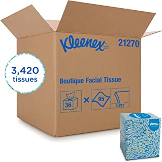 Kleenex Professional Facial Tissue Cube for Business (21270), Upright Face Tissue Box