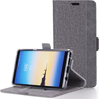 ProCase Galaxy Note 8 Wallet Case, Folio Folding Wallet Case Flip Cover Protective Case for Galaxy Note 8 2017 Release, with Card Holder Kickstand -Grey