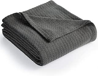 Lauren Ralph Lauren Classic Cotton Bed Blakets (Charcoal, Full/Queen)