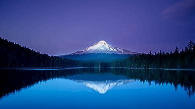 •TARQUISH Mountain-Reflection-4K-Ultra-HD-Wallposter PERL Metalic Non TERRABLE Paper Multicolour 13X19 INCHES