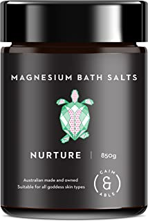 Caim & Able Scented Magnesium Bath Salts Flakes (Nurture 850g) Frankincense & Rose Essential Oils Pampering Spa Foot Soak Luxury Gifts for Women Her Girlfriend Epsom Salt Bath Bombs Alternative