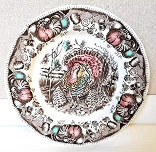 Salad Plates Set of 4 Johnson Brothers His Majesty Thanksgiving Turkey