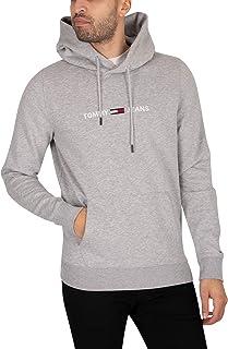 Tommy Jeans Tjm Straight Logo Hoodie Felpa con Cappuccio Uomo