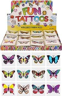 Henbrandt 24 x fjäril tillfälliga tatueringar barns födelsedagslott festväska fyllning