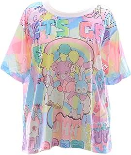 T-20 Pink Bär Bear Teddy Bunny Funky T-Shirt Lolita Harajuk