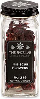 The Spice Lab No. 219 - Whole Hibiscus Flowers - Kosher Gluten-Free Non-GMO All Natural Spice - French Jar