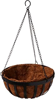 "Gardman R945 Forge Hanging Basket with Coco Liner, 12"" Wide x 7"" High"