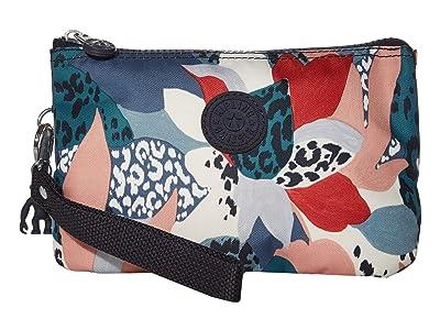 Kipling Creativity XL Printed Pouch (Urban Jungle Red) Clutch Handbags