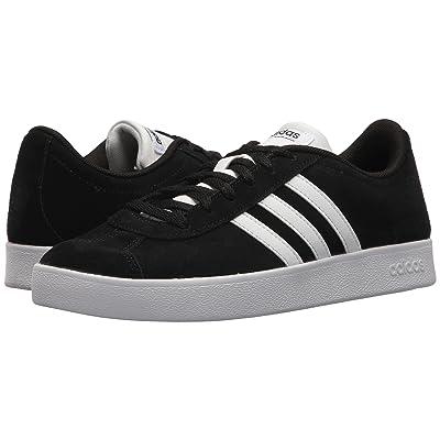 adidas Kids VL Court 2 (Little Kid/Big Kid) (Black/Black/White) Kids Shoes