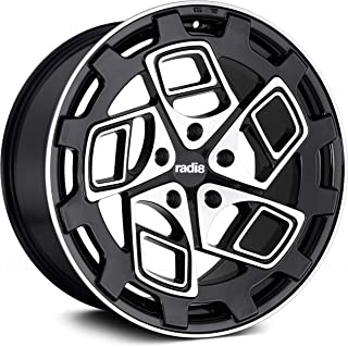 Radi8 R8Cm9 Сustom Wheel - Black with Machined Face 20