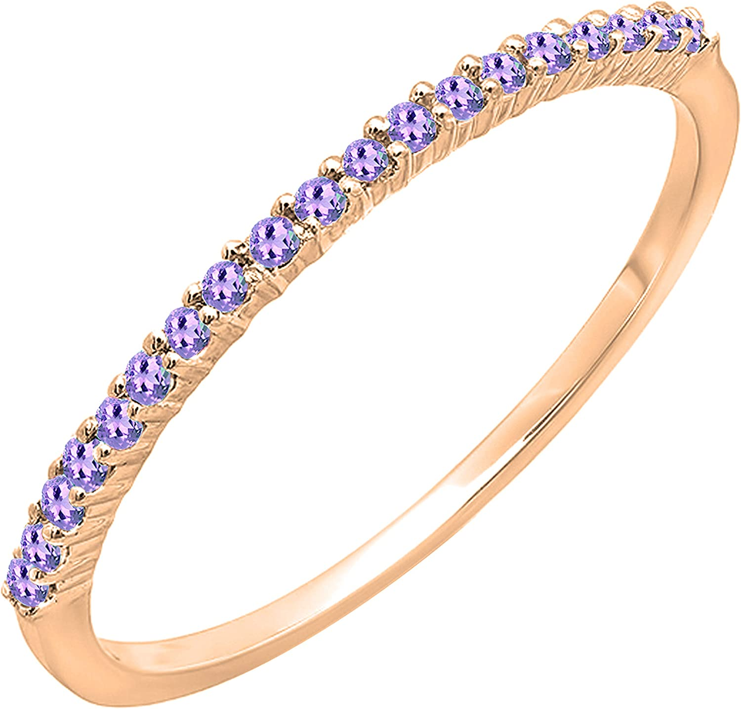 Dazzlingrock Collection Max 63% Low price OFF Round Amethyst Anniversary Ladies Stacka