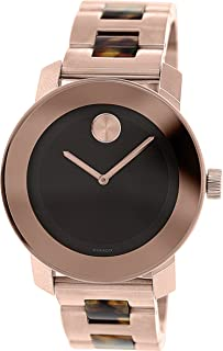 Movado Bold Brown Dial Stainless Steel Bracelet Unisex Watch 3600189