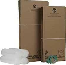 Duck Brand Moving Kit with 12 Boxes, 4 Rolls Bubble Wrap, 1 Roll HD Clear Packing Tape (280640)
