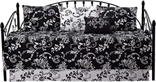 Home Soft Things Serenta La Boheme 6 Piece Quilted Daybed Set, Black, 75
